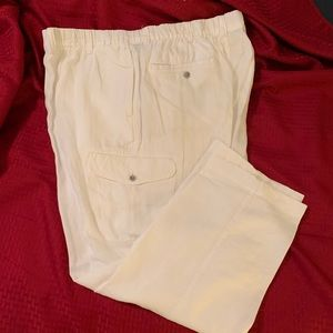 White Linen Caribbean by Roundtree & York pants